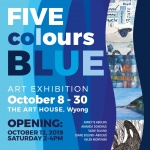 Five Colours Blue - exhibition invite